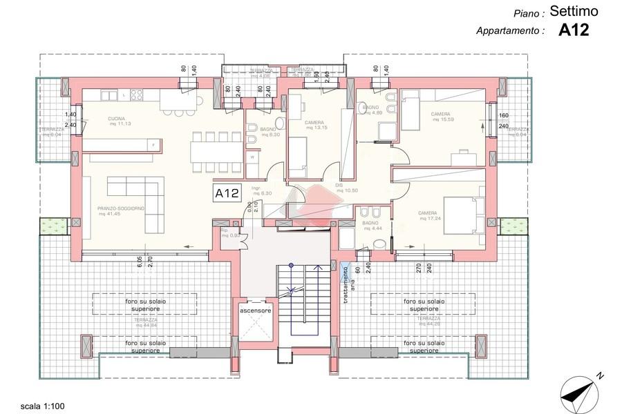 render terrazzo attico - APPARTAMENTO ATTICO VENEZIA (VE) MESTRE, CENTRO
